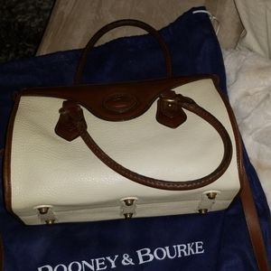 Dooney and Bourke cream and tan satchel